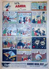 Li'l Abner by Al Capp - large full tab page color Sunday comic - Feb. 27, 1938