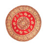 Dolls House Round Turkish Carpet Miniature Red Circular Rug