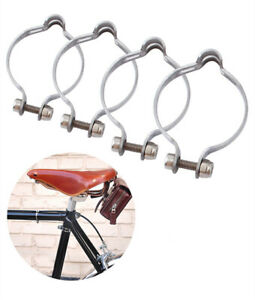 1/5Pcs Bike Bicycle Durable Cable Clamps Clamp Brake Clip Guide Organizer Steel