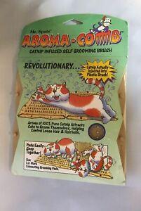VOTOYS CAT MR SPATS AROMA COMB KITTY CATNIP SELF GROOMING BRUSH HAIRBALL CONTROL