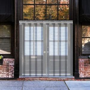 PVC Strip Curtain Vinyl Door Strips 1 x 2 m Vinyl Strip Door Curtain 6 Strips