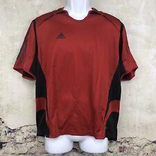 New Adidas Mens Soccer T-Shirt Climacool Adidas Jersey Black Red Short Sleeve Z2