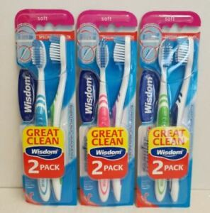 Wisdom soft toothbrushes pack of 2