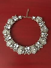 Flawless Silver/White/Gold Zara Statement Necklace Wedding Prom Engagement