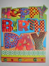"PAPER MAGIC ~ GLITTER & BUTTONS ""HAPPY BIRTHDAY"" GREETING CARD + ENVELOPE"