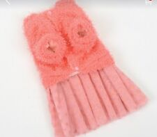 Small large Pet clothes Sweater Light Peach/Light Pink Dog Sweater Dress Puppy