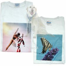 Original One of A kind Printed Photo T-shirts Dragonfly & Butterfly