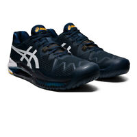Asics Mens Gel-Resolution 8 Tennis Shoes Navy Blue Sports Breathable