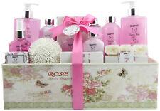 Ladies Women 15-Pcs. Bath Gift Set 'Classic Rose' Spa Collection in Vintage Box