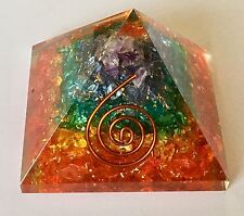 Pyramid Orgonite crystals chips stone Orgone Ornament EMF Energy UK STOCK