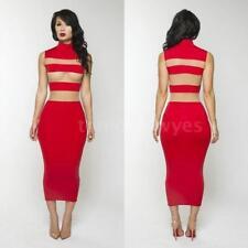 Polyester Striped Plus Size Sleeveless Dresses for Women