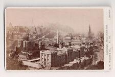 Vintage CDV Edinburgh Scotland From Calton Hill G.W. Wilson Phot Aberdeen