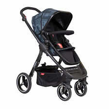 Phil&Teds Mod Stroller in Noir Black Reversible Seat & Carrycot New Open Box!
