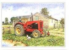 Massey Harris 744 P.D. Greetings Card Farming Gift  Present