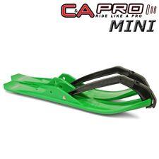 "C&A Pro MINI 4.75"" Snowmobile Skis Green w/ Black Loops - 120 Watercross Drags"