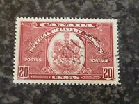 CANADA SPECIAL DELIVERY EXPRESS POSTAGE STAMP SGS10 20C SCARLET FINE-USED