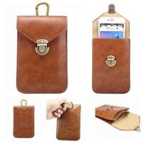 4 Color PU Leather Case Belt Hang buckle Clip Waist Bag Pouch for Smart Phone