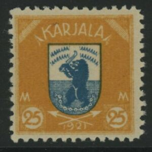 GN STAMPS-KARLIA, MINT, #1-15, LH, SIGNED ALBERTI DENER, CS/15, 1 SHOWN