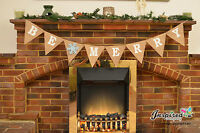 Be Merry Christmas Hanging Bunting Hessian Garland Burlap Banner Home Fireplace