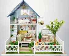 DIY Wooden Dollshouse Miniature Kit w/ LED Light-Dollhouse Hallstatt/Furniture