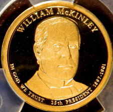 2013 S WILLIAM MCKINLEY PROOF PRESIDENT DOLLAR ANACS PF 69 DCAM