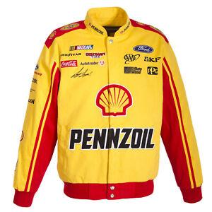 Authentic  Joey Logano Penzoil Yellow Uniform Cotton Jacket JH Design