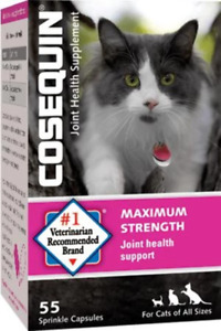 Cosequin for Cats Joint Supplement Arthritis 55 Sprinkle Caps Vet Recommended