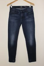 7 For All Mankind The Slim Cigarette Dark Wash Faded Skinny Jeans Size 30