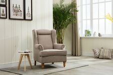 AUSTIN WINGBACK CHAIR IN VICTORIA LINEN
