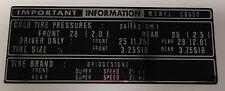 HONDA CB550K CB550F TYRE CAUTION WARNING LABEL DECAL