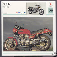 1980 Suzuki GSX 1100cc (1074cc) Japan Bike Motorcycle Photo Spec Info Atlas Card