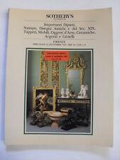 SOTHEBY'S - IMP DIPINTI,STAMPE,OGGETTI ARTE,GIOIELLI - FIRENZE 23 SETTEMBRE 1987