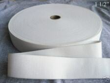 "1 ROLL 50 YARDS WHITE ELASTIC 1 1/2"", 1 1/2 INCH, NEW"