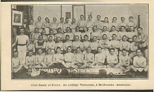 AUSTRALIA CLUB SANTE ET FORCE VICTORIAN COLLEGE IMAGE DE 1908 OLD PRINT