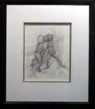 """Guillaume Azoulay """"Etude Rires"""" Signed Original Pen And Ink Drawing On Paper"""