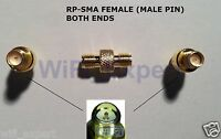 RP-SMA female To RPSMA female connect 2 Males RF Straight Connector Adapter GRIP