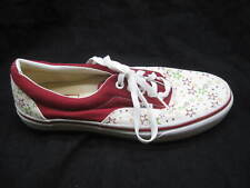Vans white red green mens skate tennis shoes sz 8.5M or Womens size 10M T375