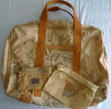 Alviero Martini Prima Classe Map Globe Lightweight Carry-On Travel Bag Suitcase