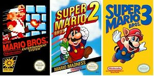 Super Mario Bros 1 2 3 Game Poster Trilogy Collection (Set of 3) - NEW - USA