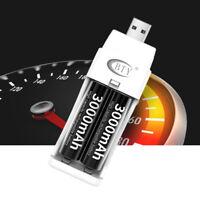 Rápido cargador de batería USB LED para pilas AAA AA níquel-cadmio ar1