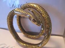Vintage Whiting & Davis Snake Gold  Mesh~Choker