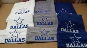 Dallas Cowboys Football Bath Towel Set, Personalized Sports Team Towel Sets