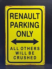 RENAULT Parcheggio Solo Metallo Segno/Vintage Garage Wall Decor (30 x 20 cm)