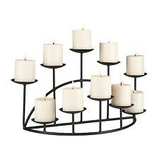 Candle Holder Metal Black Floor Candelabra Mantel Fireplace Platforms Decor Home