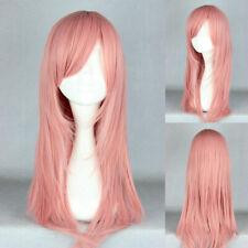 Ladieshair Perücke Wig Rosa Pink ca. 65cm für Hitman Reborn Bianchi Cosplay F7T