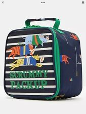 Joules Boys Lunch Bag  Box Jungle Scrum. With Sandwich Box Included.