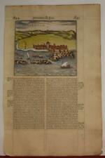 ASILAH MOROCCO 1575 BELLEFOREST UNUSUAL ANTIQUE WOODCUT CITY VIEW FRENCH EDITION