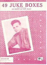 """ALFY WEATHERBEE """"49 JUKE BOXES"""" SHEET MUSIC-PIANO/VOCAL/CHORDS-1957-NEW ON SALE!"""