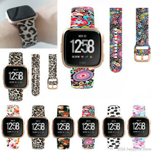 OZ For Fitbit Versa /Versa 2 Printed Silicone Smart Watch Replacement Band Strap