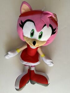 """Jumbo Toy Factory 18"""" AMY ROSE Sonic Plush Toy Doll 2019 Rare Clean"""
